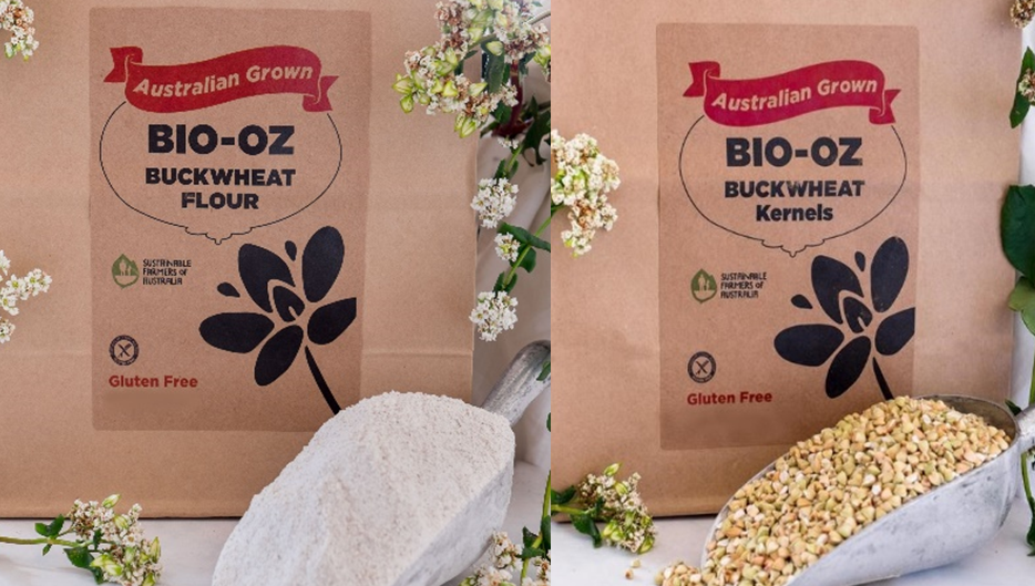 Bio-Oz Sustainable Buckwheat GF Flour / Kernels 2kg Twin Pack  Freight Free
