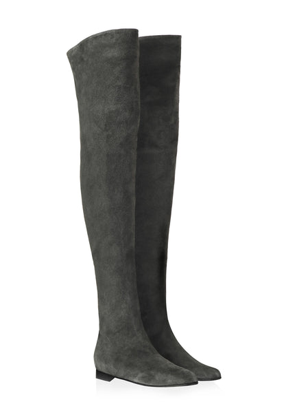 Over The Knee Boots Flat - Khiller Khakis