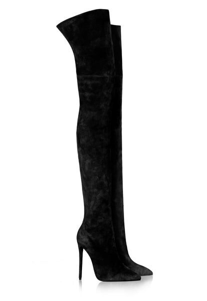 Super Thigh High Boots - Black