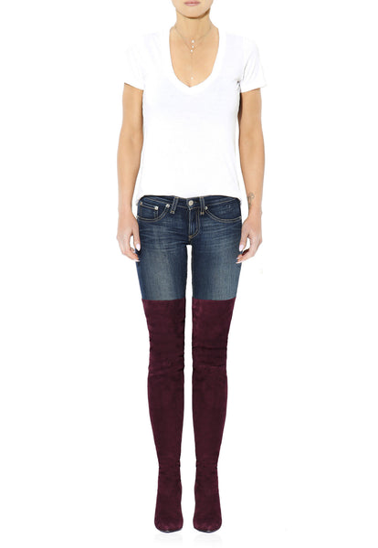 Over The Knee Boots - Burgundy