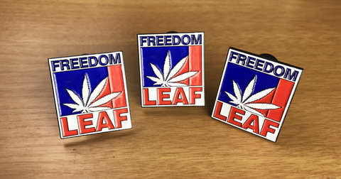 Freedom Leaf Hat Pin