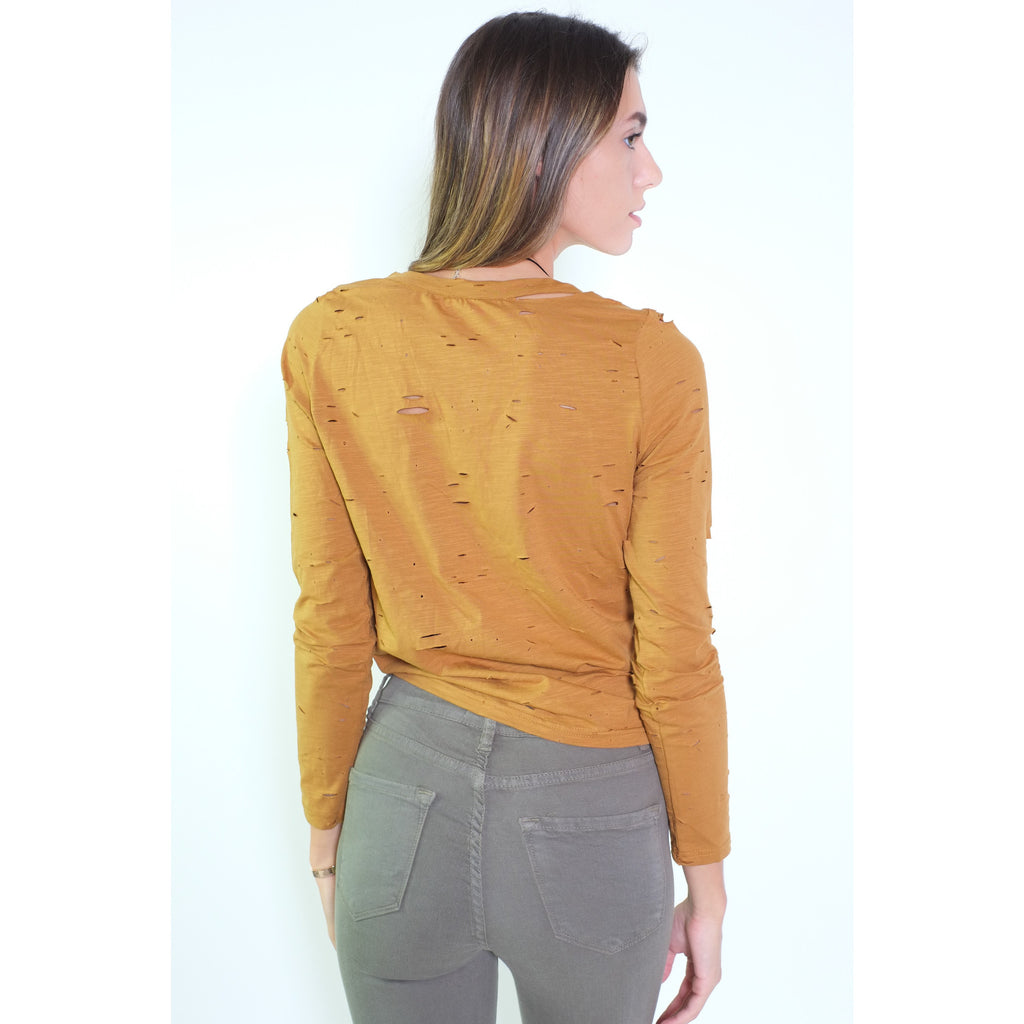 Front Knot Top - Camel - Shop Angel Dust
