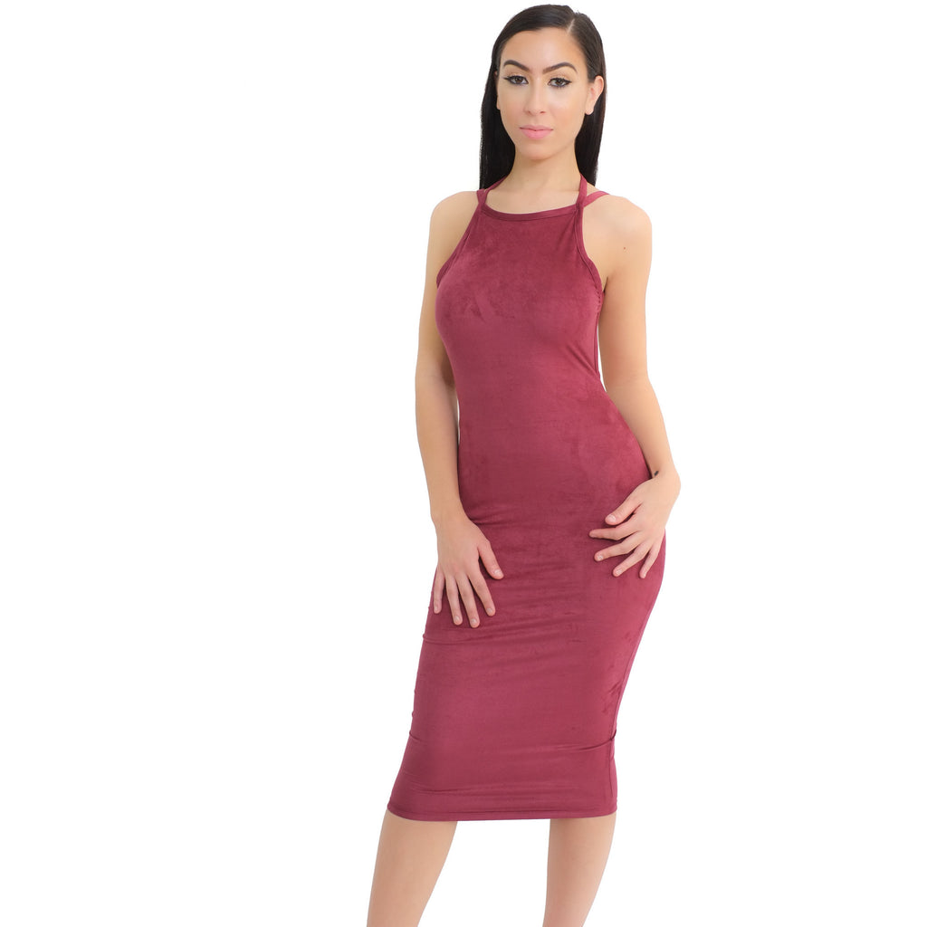 Mila Suede Dress - Berry - Shop Angel Dust