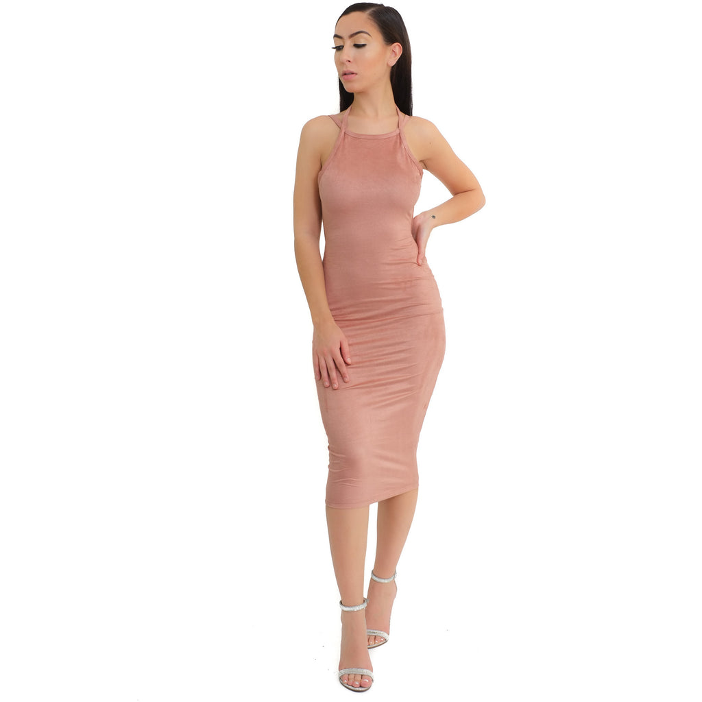 Mila Suede Dress - Mauve - Shop Angel Dust