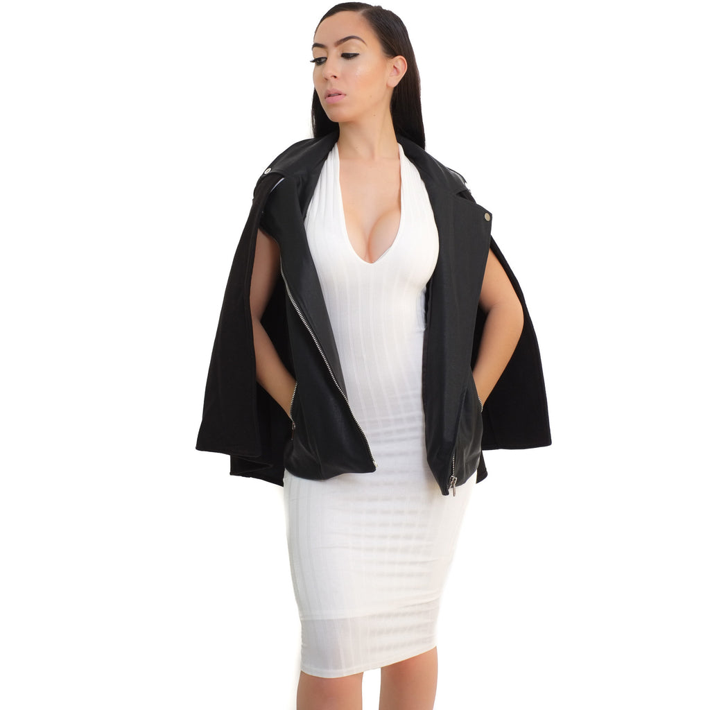 Leather Cape Jacket - Shop Angel Dust