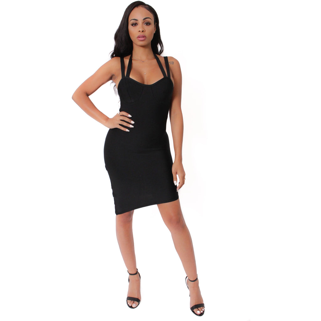 Evelin Bandage Dress - Black - Shop Angel Dust