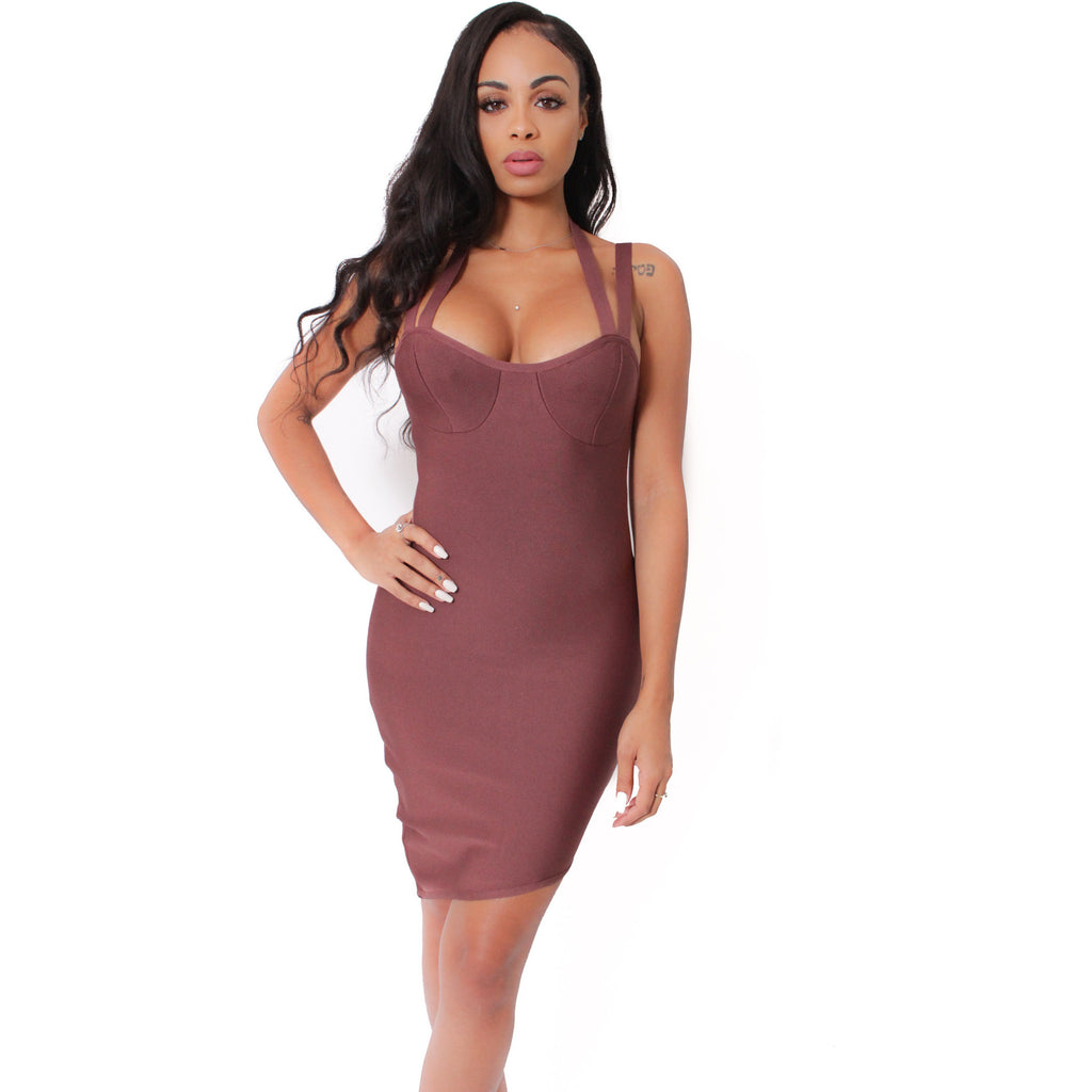 Evelin Bandage Dress - Mauve