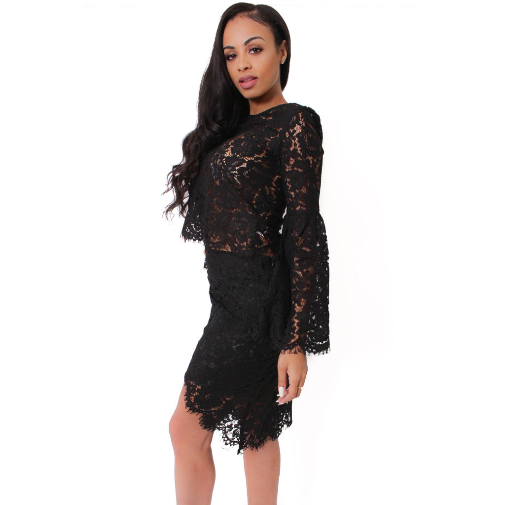 Gimme More Top & Skirt- Black - Shop Angel Dust