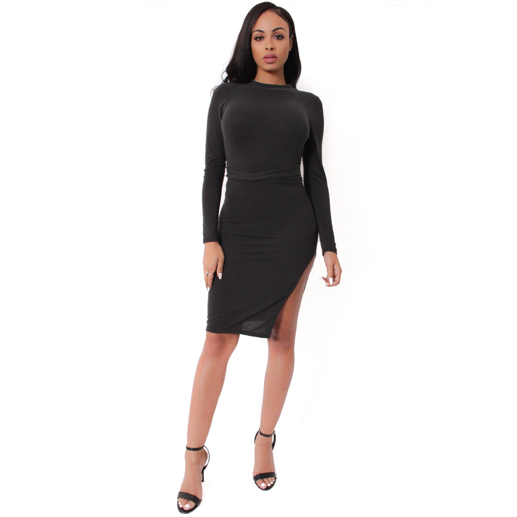 Back Strap Dress- Black - Shop Angel Dust