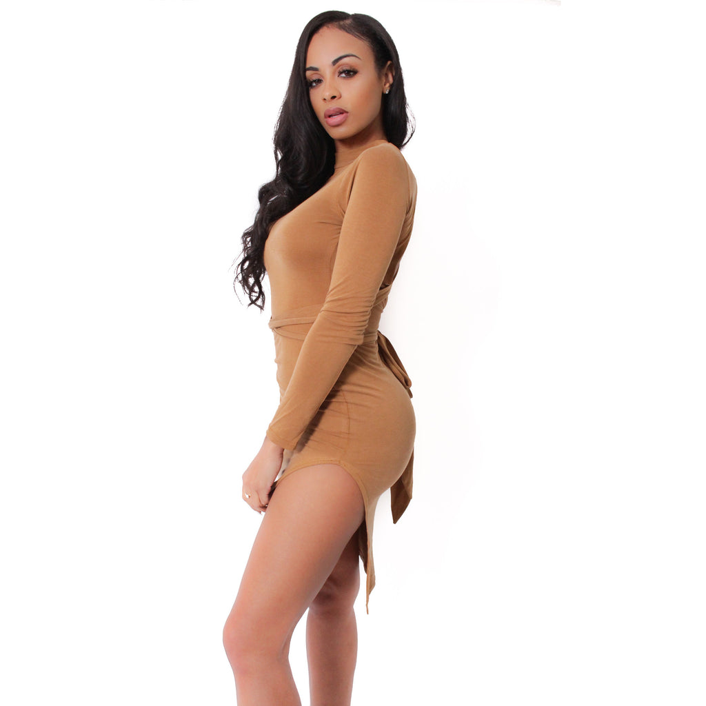 Back Strap Dress- Camel - Shop Angel Dust