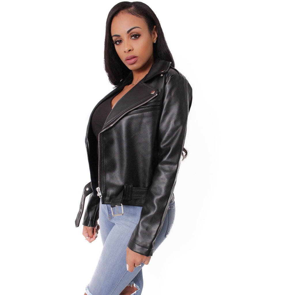 Black Angel Leather Jacket - Shop Angel Dust