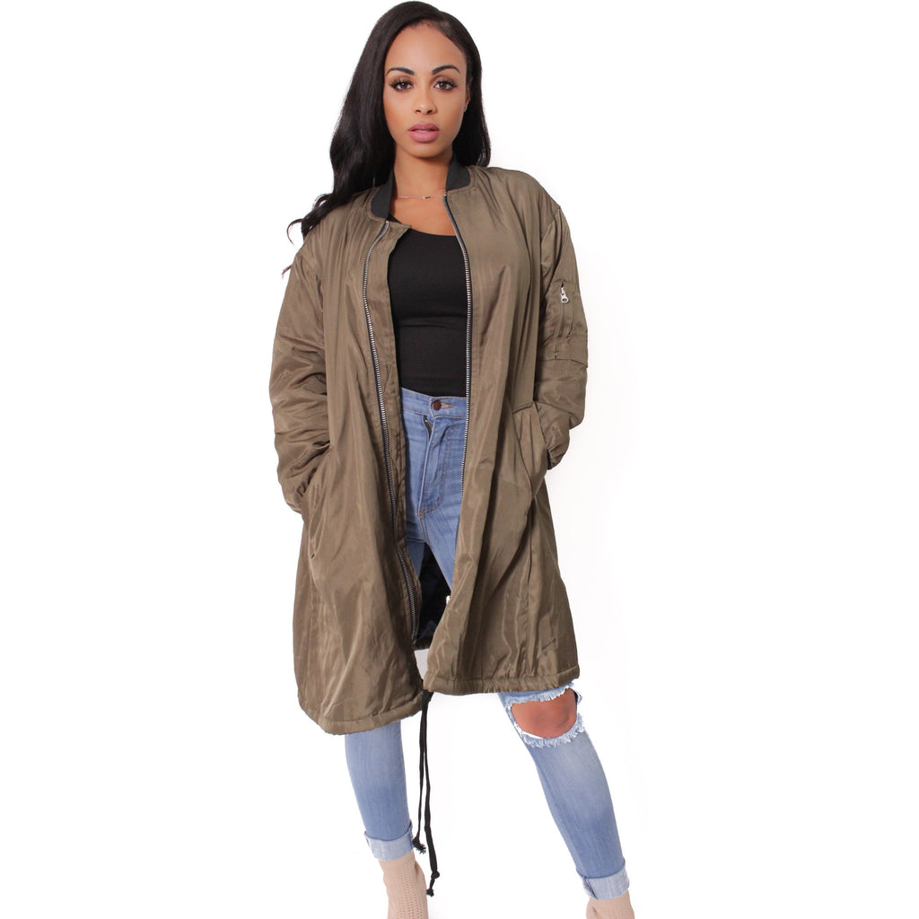 Vera Long Bomber Jacket - Shop Angel Dust