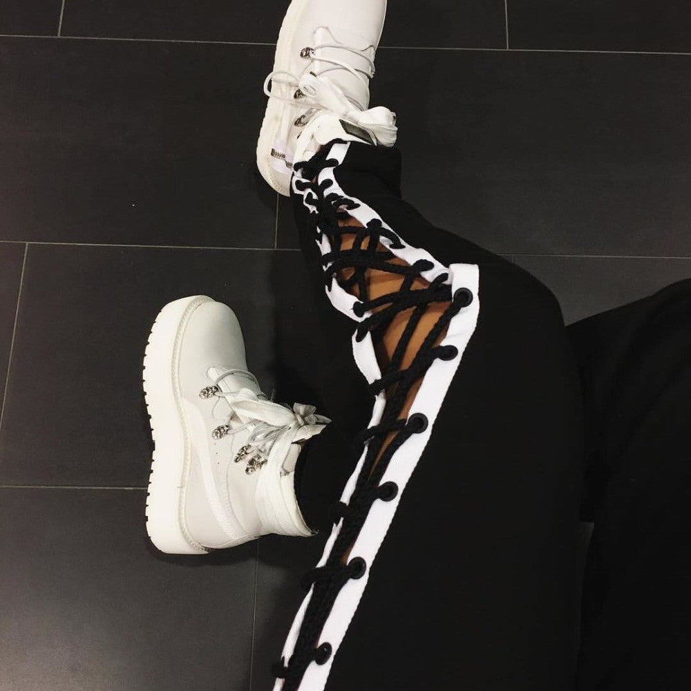 Lace up Baggy Pants