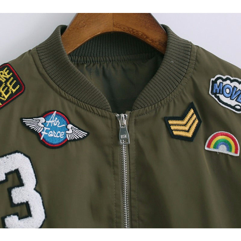 Patch Bomber Jacket