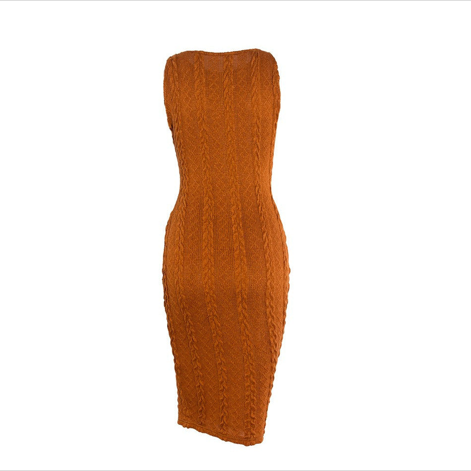 O Neck Knitted Dress