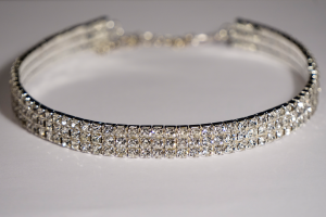 Crystal Stretch Choker 3 Row