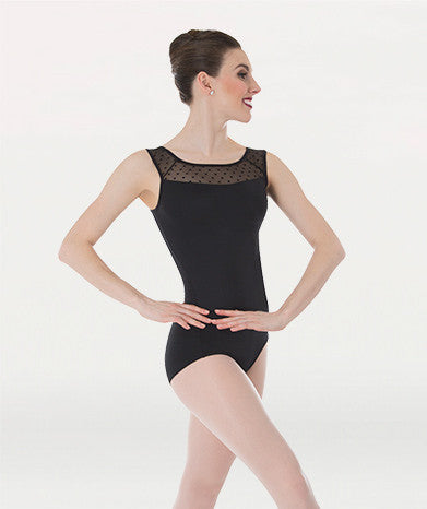 Body Wrappers Dotted Yoke Leotard by Tiler Peck
