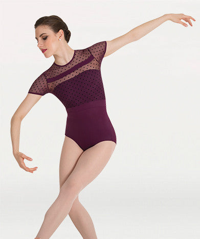 Body Wrappers Merlot Cap Sleeve Leotard by Tiler Peck