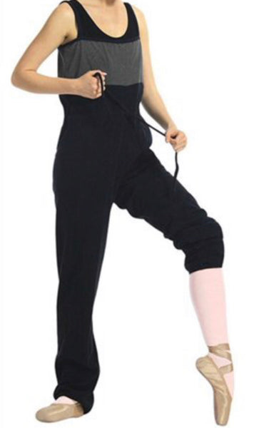 Sansha Gaby Warm Up Unitard Grey and Black
