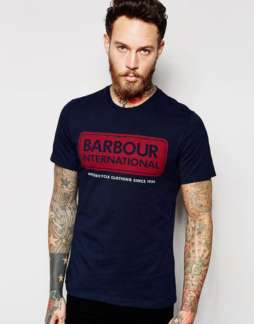 Barbour T-Shirt with Lozenge Logo In Slim Fit
