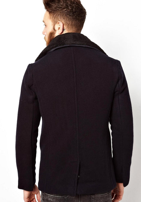 Schott Peacoat with Detachable Collar