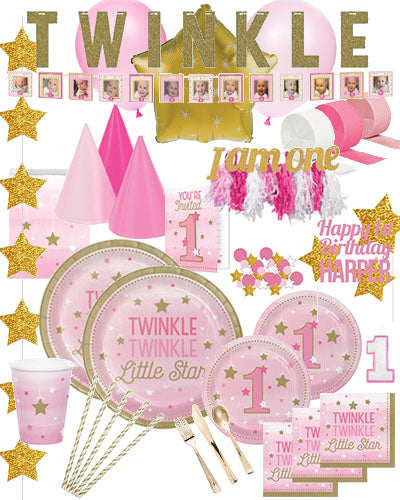 Birthday Party Kit Twinkle Twinkle Little Star First Birthday