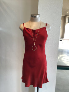 Red Silky Mini Dress