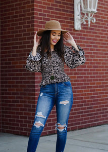 Floral Smocked Long Sleeve