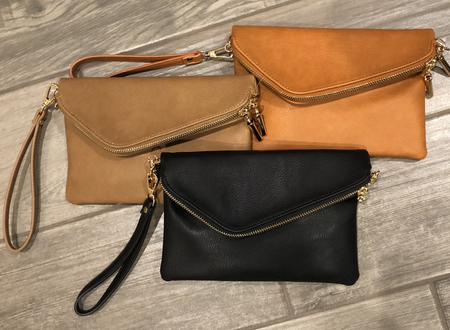 Double Flap Clutch Purse