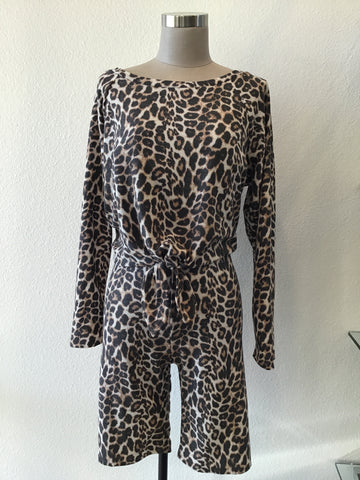 Leopard Lounge Short Set