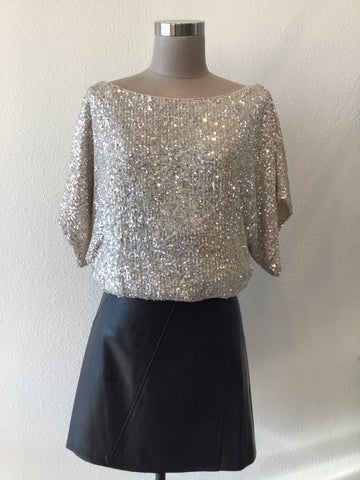 Sequin Boat Neck Top