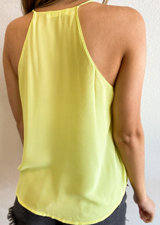Neon Cross Over RacerbackTank