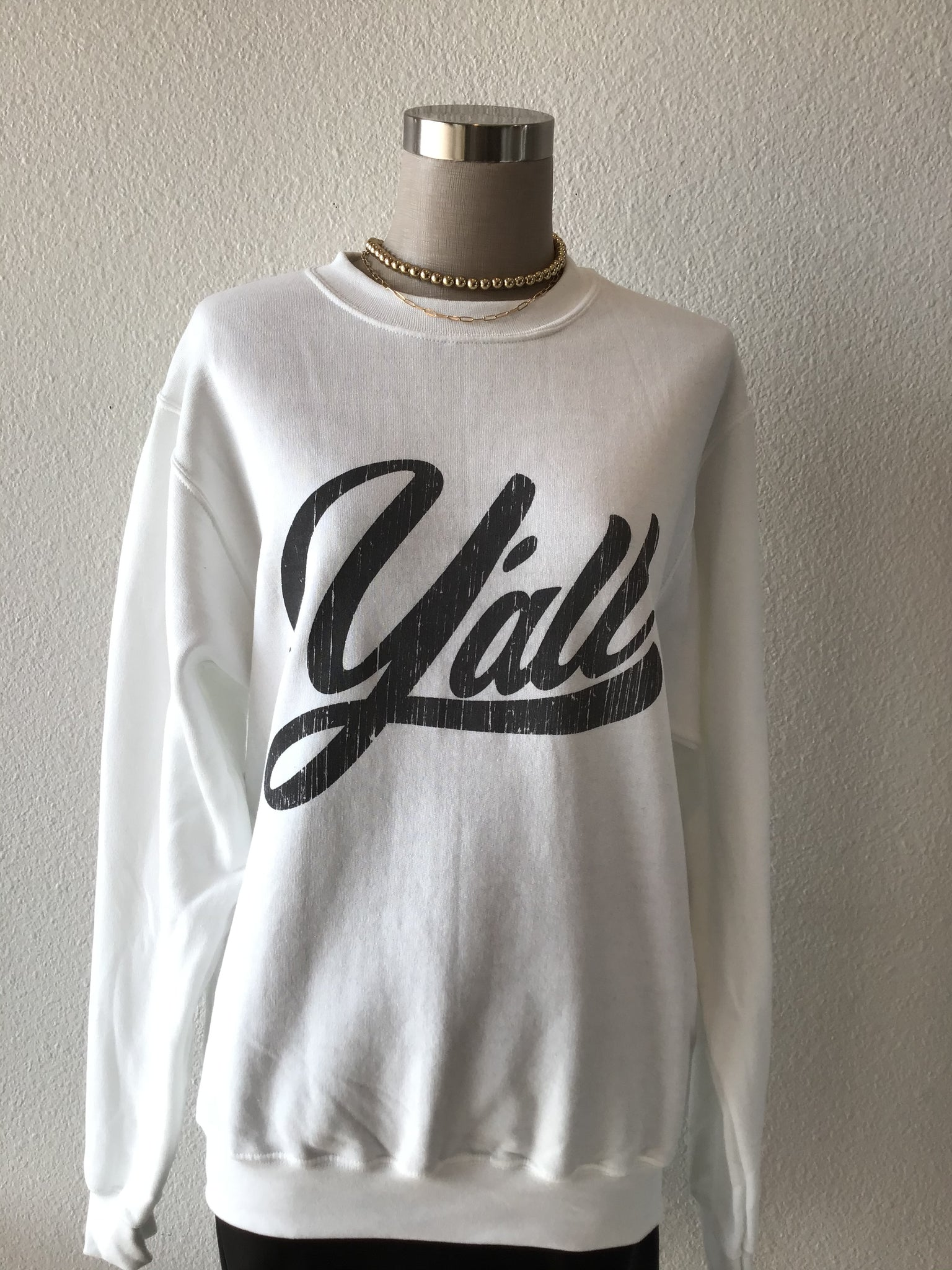 Y'all Graphic Crewneck Sweatshirt