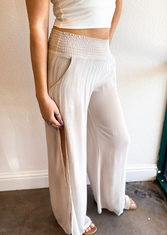 Flowy Palazzo Wide Leg Pant with Split