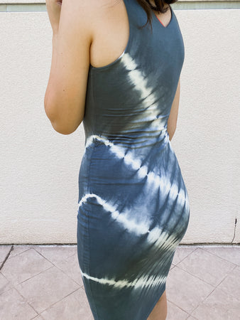 Stripe Tye Die Bodycon Dress