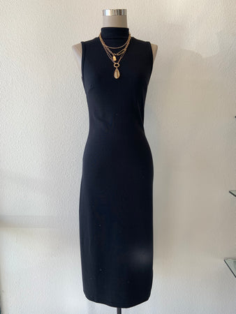 High Neck Midi Dress