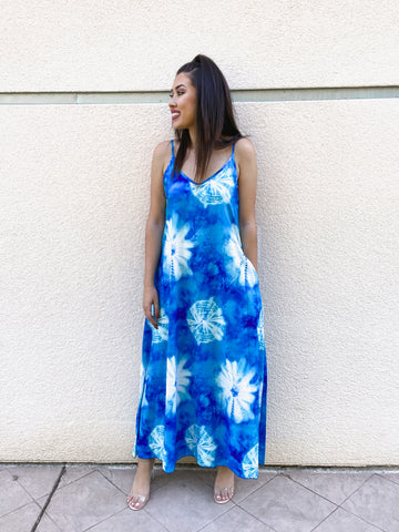 Long Tie Dye Maxi Dress