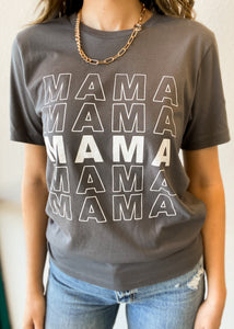 Mama Repeat Charcoal Graphic Tee