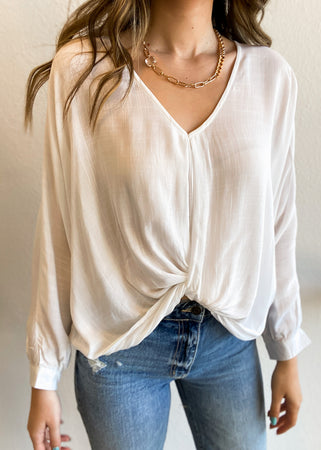 Quarter Sleeve Slouchy Top