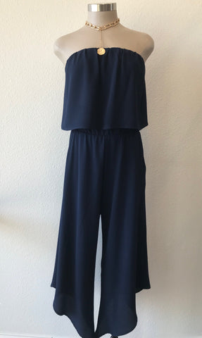 Crop Jumpsuit Black