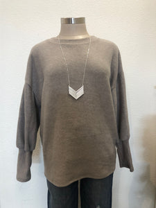 Mushroom Round Neck Long Sleeve Top