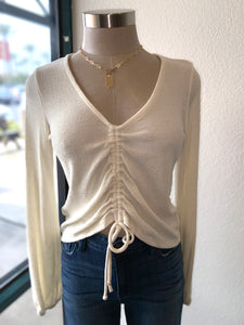 Clinch Front Sweater Top