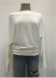Crepe Hacci Top- Off White