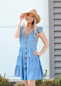 Flutter Button-Up Dress