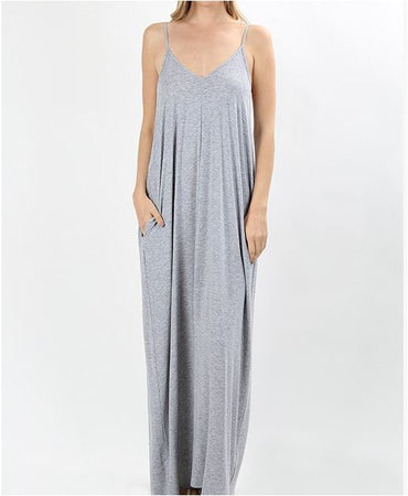 Erika V Neck Cami Maxi Dress