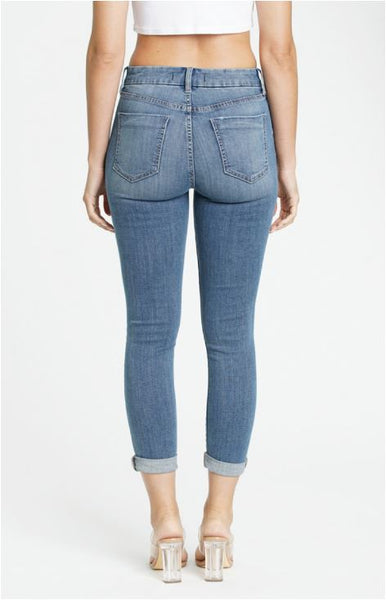 Bri High Rise Skinny Roller Denim