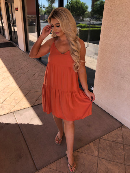 Burnt Orange Baby Doll