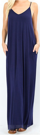 V Neck Cami Maxi Dress