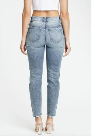 Tobi Super High Rise Mom Jean Acid Light
