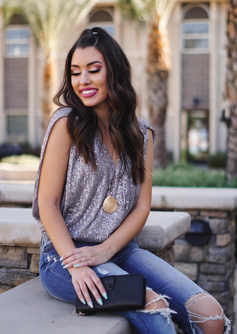 Splice Sequin Top